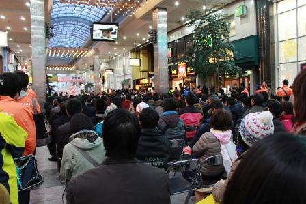大街道商店街での開会式